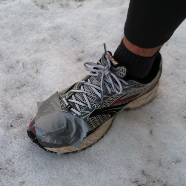 Duct Tape Winter Shoes